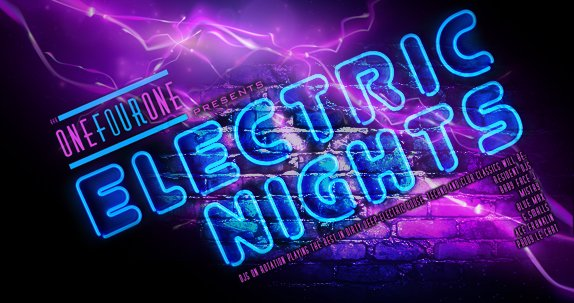 Electric Nights Flyer
